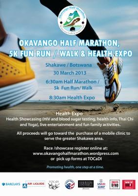 Okavango Half Marathon Poster
